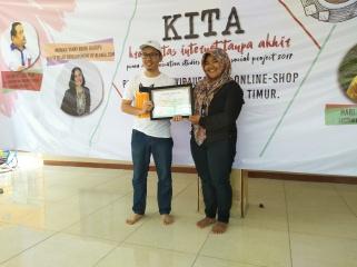 Peningkatan literasi media di Desa Labansari, Bekasi (23/9/2017).